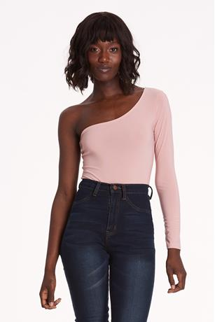 One-Shoulder Bodysuit MAUVE