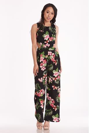 Tropical Cutout Jumpsuit