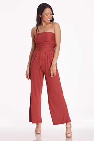 Ruched Tube Jumpsuit