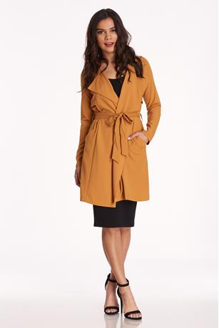 Belted Duster Jacket MUSTARD