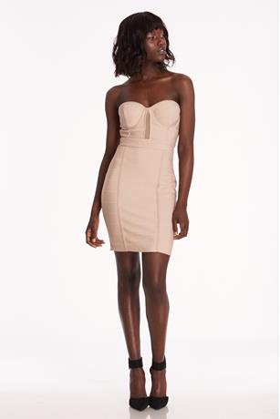 Bandage Mesh Insert Dress