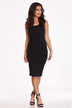 Racerback Midi Dress BLACK