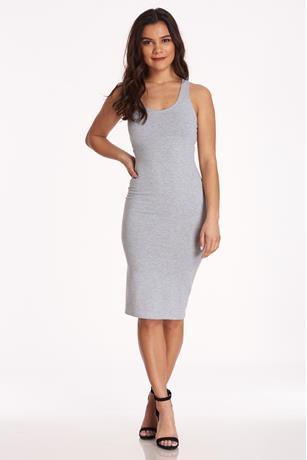 Racerback Midi Dress HEATHER