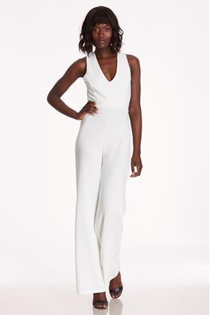 b42ad627054 Crisscross Back Jumpsuit WHITE ...