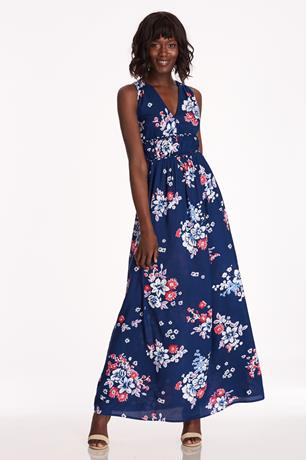 Floral V-Neck Dress NAVY