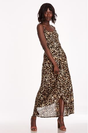 f9674fbca217 Leopard Print Maxi Skort LIGHT BROWN