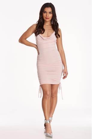 Ruched Tank Dress BLUSH