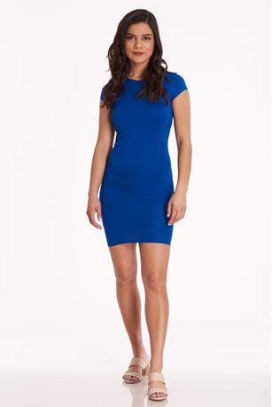 Cap-Sleeve Bodycon Dress ROYAL