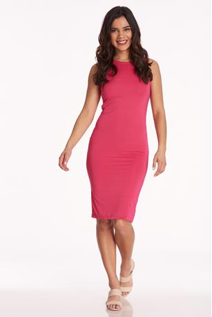 Sleeveless Bodycon Dress FUSCHIA