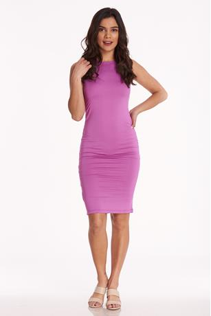 Sleeveless Bodycon Dress PURPLE