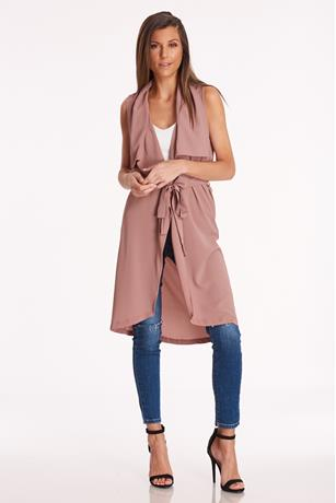 Sleeveless Duster Jacket
