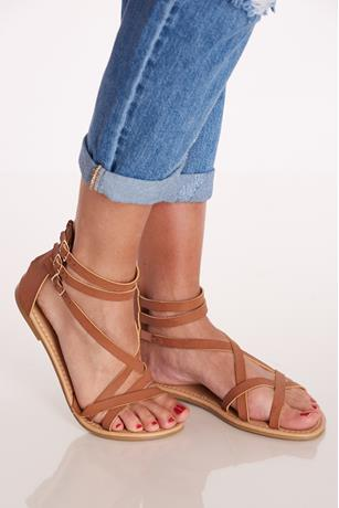 Ankle Buckle Gladiators TAN