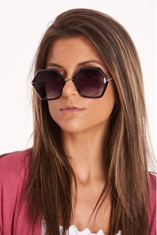 Hexagon Rim Sunglasses