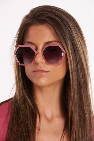 Hexagon Rim Sunglasses PINK