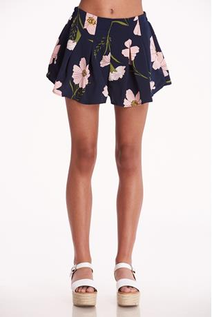 Floral Pleated Shorts PINK