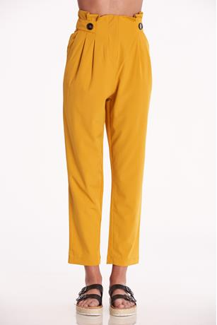 High Waist Paperbag Pants MUSTARD