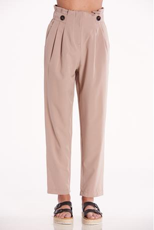 High Waist Paperbag Pants TAUPE