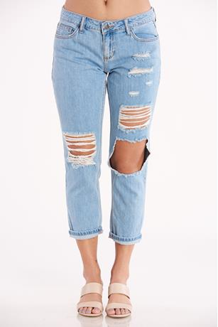 Cello Rip Knee Jeans  LIGHT WASH