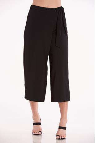 Asymmetrical Culottes BLACK