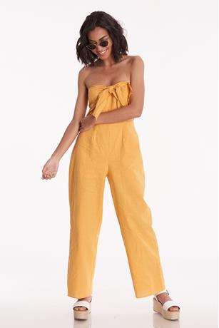 Strapless Bow Front Jumpsuit