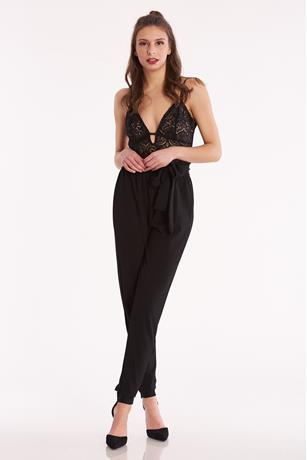 Lace Paperbag Jumpsuit