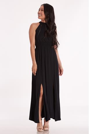 Open Back Maxi Dress BLACK