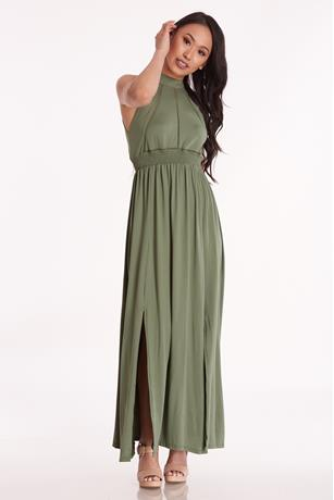Open Back Maxi Dress OLIVE