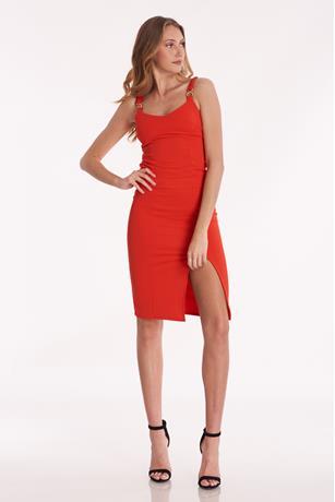 O-Ring Midi Dress