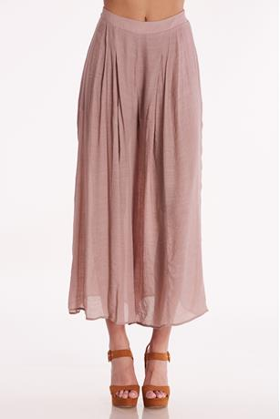 Lined Wide Leg Pants