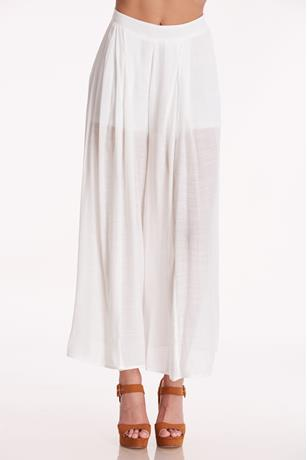 Lined Wide Leg Pants WHITE