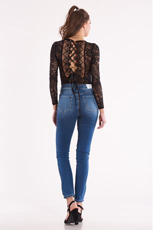 Lace Up Back Bodysuit BLACK
