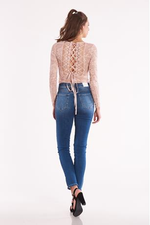 Lace Up Back Bodysuit ROSE