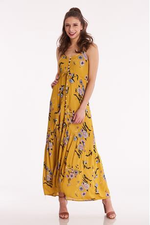 Floral Tank Maxi Dress MUSTARD