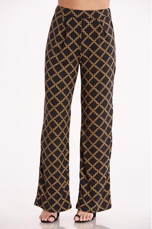 Chain Print Pants BLACK