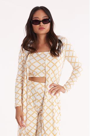 Chain Print Duster IVORY