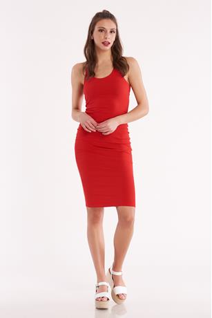 Racerback Midi Dress RED