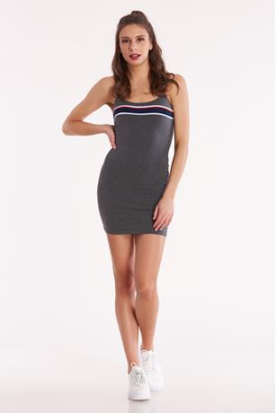 Mini Cami Contrast Dress CHARCOAL