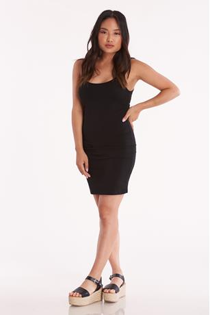 Scoop Tank Mini Dress BLACK