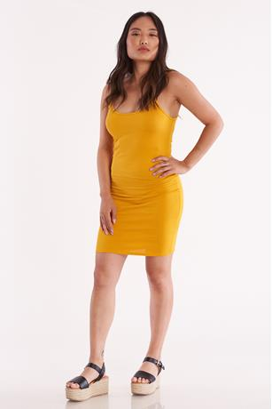 Scoop Tank Mini Dress MUSTARD