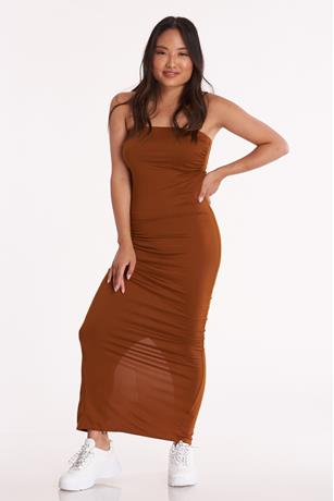 Tube Maxi Dress COGNAC