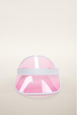 Color Semi Transparent Visor Hat  PINK
