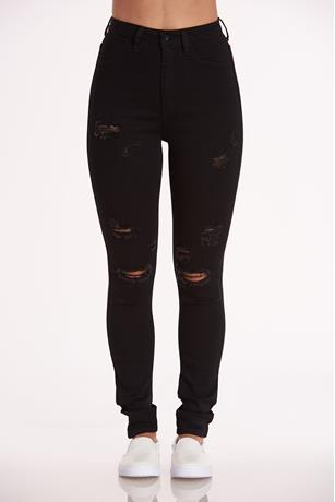 Aphrodite Distressed Skinny Jeans BLACK