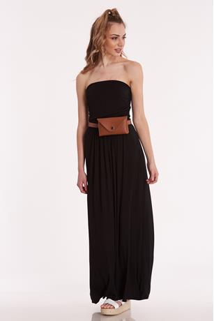 Tube Maxi Dress BLACK