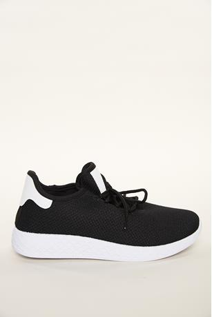 Contrast Low Top Sneakers BLACK