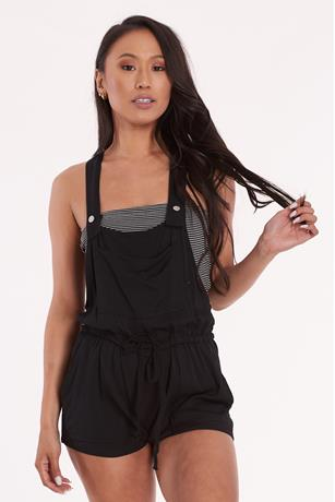 Self Tie Overall Shorts