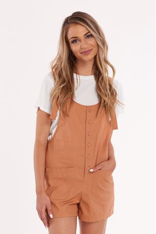 Button front Short Overalls