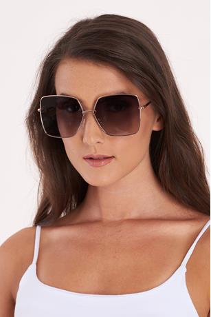 Square Aviator Sunglasses GRAY