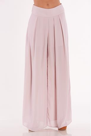 High Rise Wide Leg Pants MAUVE
