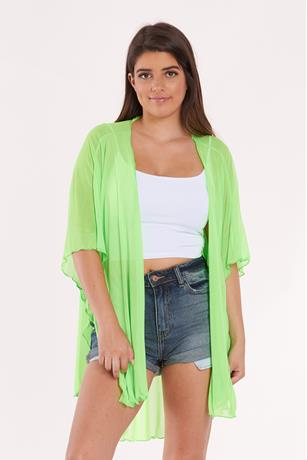 Sheer Mesh Duster NEON GREEN