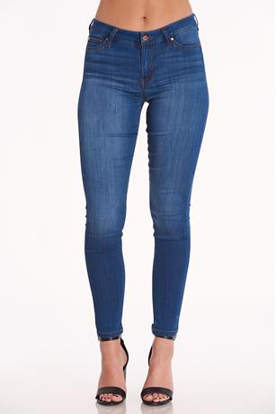 Basic Mid Rise Jeggings DARK WASH